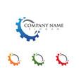 Gear logo template icon design