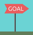 Goal direction sign vector image