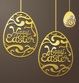 Gold Easter Eggs Decorate vector image vector image
