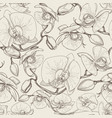 graphic orchid flowers seamless pattern vector image vector image