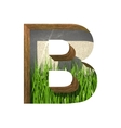 grass cutted figure b Paste to any background vector image
