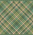 green mosaic fabric texture plaid seamless pattern vector image vector image