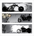 grunge motorbike banners vector image vector image