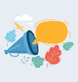 hand holding megaphone with bubble speech vector image vector image