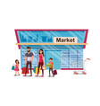 happy family holiday shopping flat concept vector image