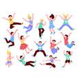 happy jumping kids set vector image vector image