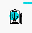 head plan strategy tactics think turquoise vector image