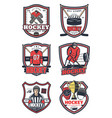 ice hockey game sport icons vector image vector image