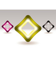 illuminated icons vector image vector image