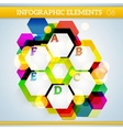 Info graphic hexagonal paper elements on abstract vector image