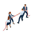 isometric businessmen and businesswomen in suit vector image vector image