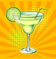 liquor alcohol cocktail pop art vector image vector image