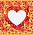 love heart frame background romantic holiday vector image vector image