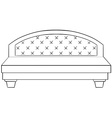 Luxury bed vector image vector image