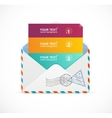 mail postcard menu with 3 choices 123 vector image vector image