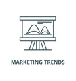 marketing trends line icon linear concept vector image vector image