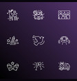new icons line style set with family photo vector image