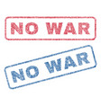 no war textile stamps vector image vector image