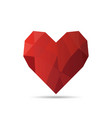 origami heart in isolated vector image vector image