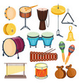 percussion musical instruments flat style vector image vector image