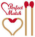 Perfect match set vector image vector image
