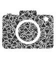 photo camera mosaic of triangles vector image vector image