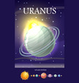 planet uranus in solar system vector image vector image
