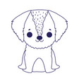 puppy dog domestic sitting cartoon pets vector image vector image