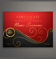 Red and black luxury certificate design template