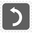 Rotate Left Rounded Square Button vector image