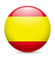Round glossy icon of spain vector image vector image