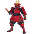 samurai warrior red vector image vector image