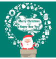 Santa Vintage Christmas card Celebration backgroun vector image vector image
