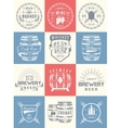 Set of Cask Alcohol Emblems vector image vector image