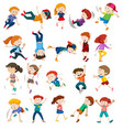 set of urban children character vector image vector image