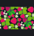 simple strawberry seamless pattern vector image vector image