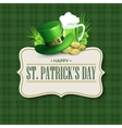St Patricks Day vintage holiday badge design vector image vector image