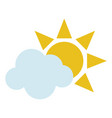 sun and cloud icon image vector image vector image