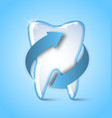 teeth protection icon on pale blue background vector image