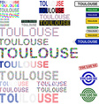 Toulouse text design set vector image vector image