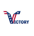 victory on election in usa banner design for vector image vector image