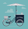 Vintage Ice Cream Cart vector image vector image