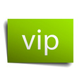 vip square paper sign isolated on white vector image vector image