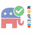 vote republican composition icon inequal parts vector image vector image