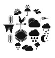 weather icons set simple style vector image vector image