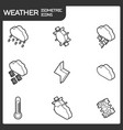 weather outline isometric icons vector image vector image