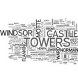 windsor castle text word cloud concept vector image vector image