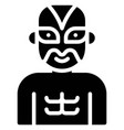 wrestler mask costume icon halloween costume party vector image