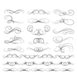 Set of Calligraphic lines vector image