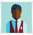 African schoolboy icon flat vector image